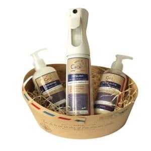 Pack Beauté au naturel aux huiles essentielles Bio : Démêlant, réparateur cutané et stimulateur de repousse du poil sans effet gras