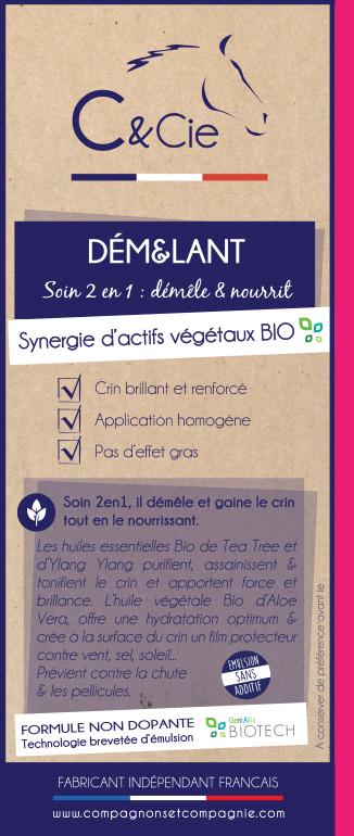 C&Cie_Demelant crin_soins chevaux naturels et sans additif aux huiles essentielles bio