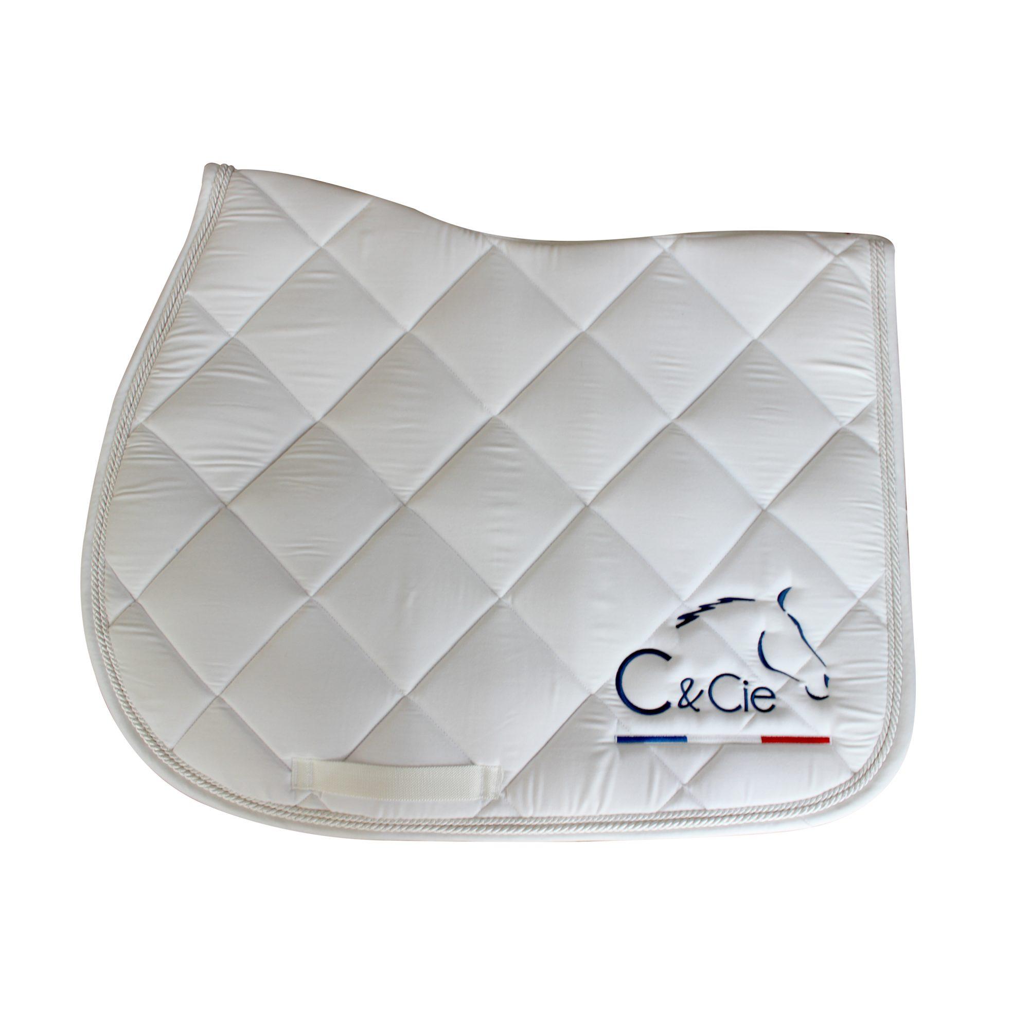 C&cie_soins naturels pour chevaux_tapis de selle blanc CSO