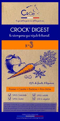 C&cie_Crock Digest_friandises naturelles pour chevaux_sans cereales sans gluten 100% fruits legumes plantes sechees_sans cuisson