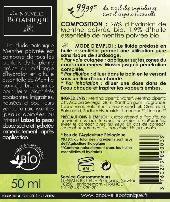 La Nouvelle Botanique_Aromatherapie Bio_Fluide Botanique_MENTHE POIVREE_BD_