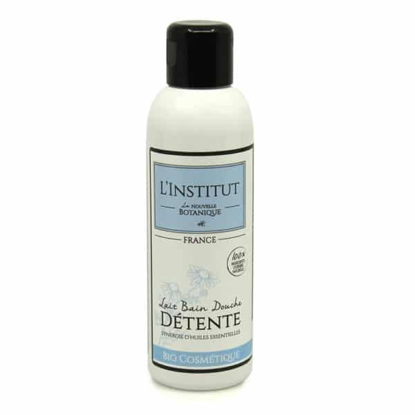 La Nouvelle Botanique_Hydrolatherapie_Cosmetique Bio_Lait de bain DETENTE aux huiles essentielles Bio_huile végétale noyau abricot_