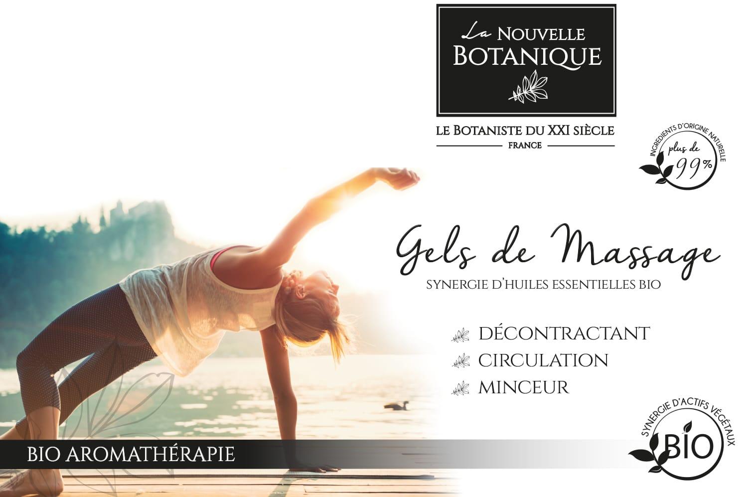 Aromathérapie - gels de massage aux huiles essentielles