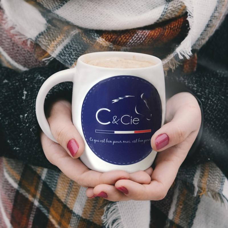 tasse café chevaux mug cheval c&cie