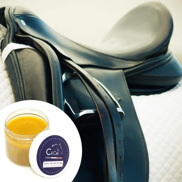 soin naturel a la citre d'abeille bio et l'huile de lin nourrisante pour selle d'equitation