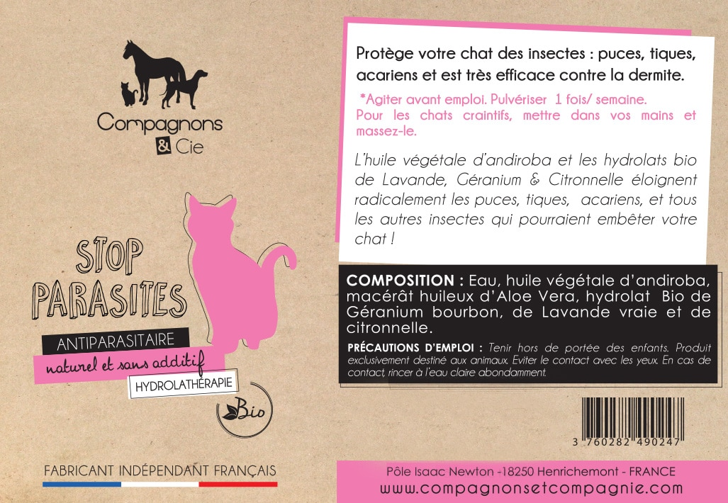 Chatons Chats_Stop Parasite_anti puce chat naturel