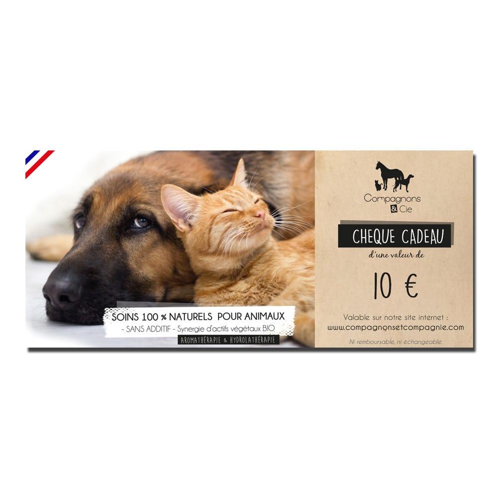 carte cadeau pour animau - bon d'achat soins chiens et chats - idées cadeau chiens chats nac